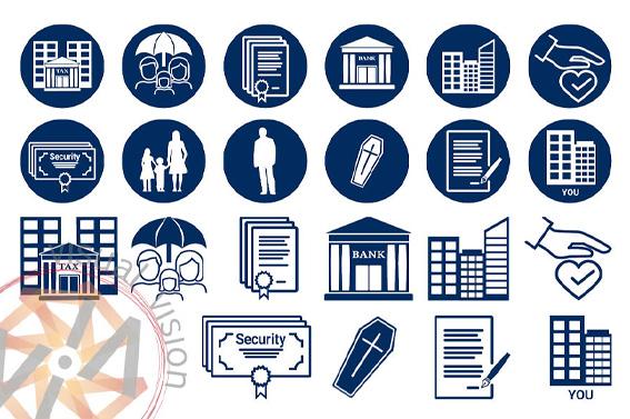Icons für den Schweizer Finanzdienstleister Envisage