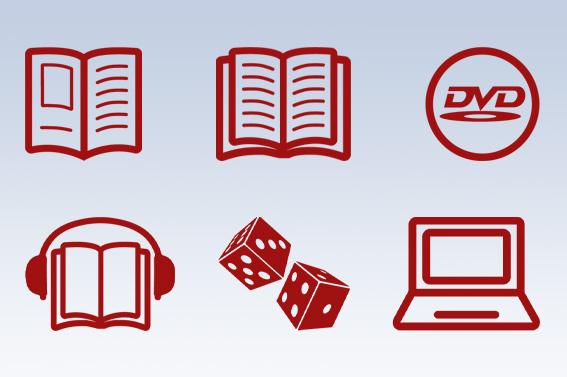Icons für den Folder der Bibliothek Kirchberg